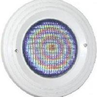 Подводный прожектор, ЛЕД цветной (270), 12 Вт, лицевая панель на винтах, под панель / под пленку, цвет голубой, PL-06V-P-BC